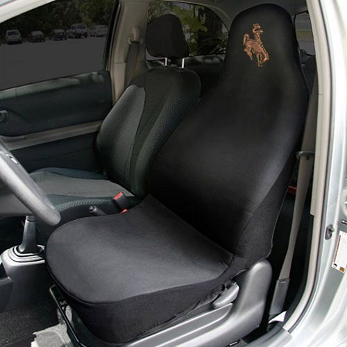 Wyoming Cowboys Car Seat Cover - Black