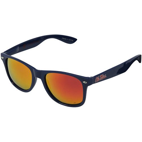 Society43 Mississippi Rebels Signature Series Reflective Sunglasses - Navy Blue