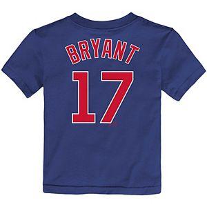 Toddler Nike Kris Bryant Royal Chicago Cubs Player Name & Number T-Shirt