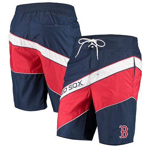 Men's Starter Navy/Red Boston Red Sox Rookie Swim Trunk
