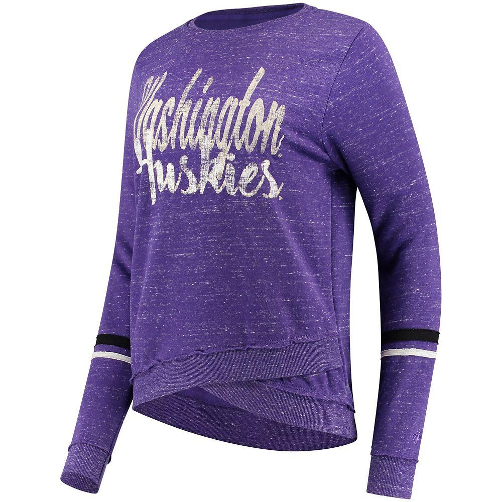 Women's Colosseum Purple Washington Huskies Birdie Pullover Sweatshirt