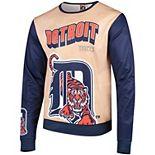 Men's Tan/Navy Detroit Tigers Sublimated Crew Neck Sweater
