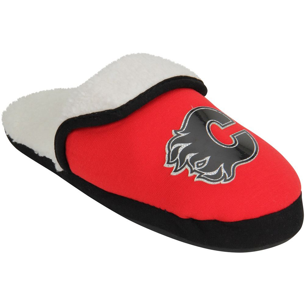 Women's Calgary Flames Glitter Patch Slippers