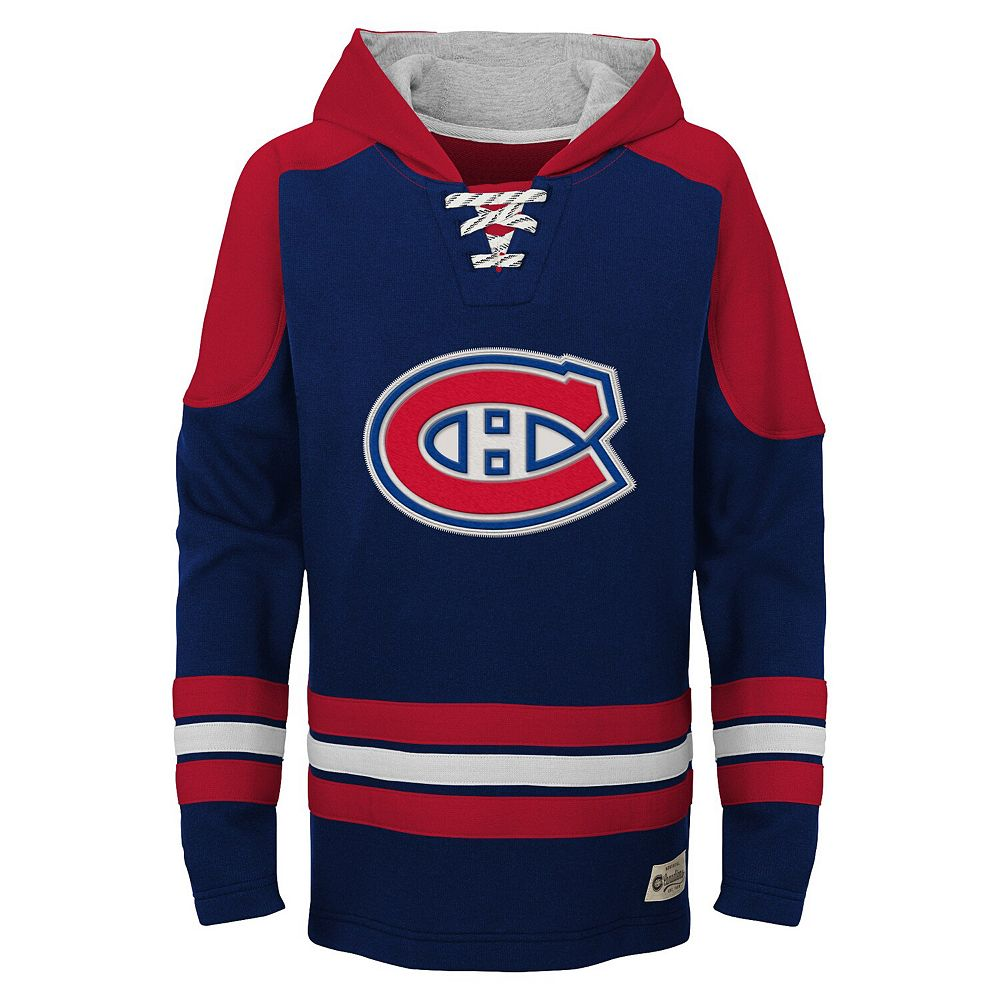 Youth Navy Montreal Canadiens Legendary Pullover Hoodie