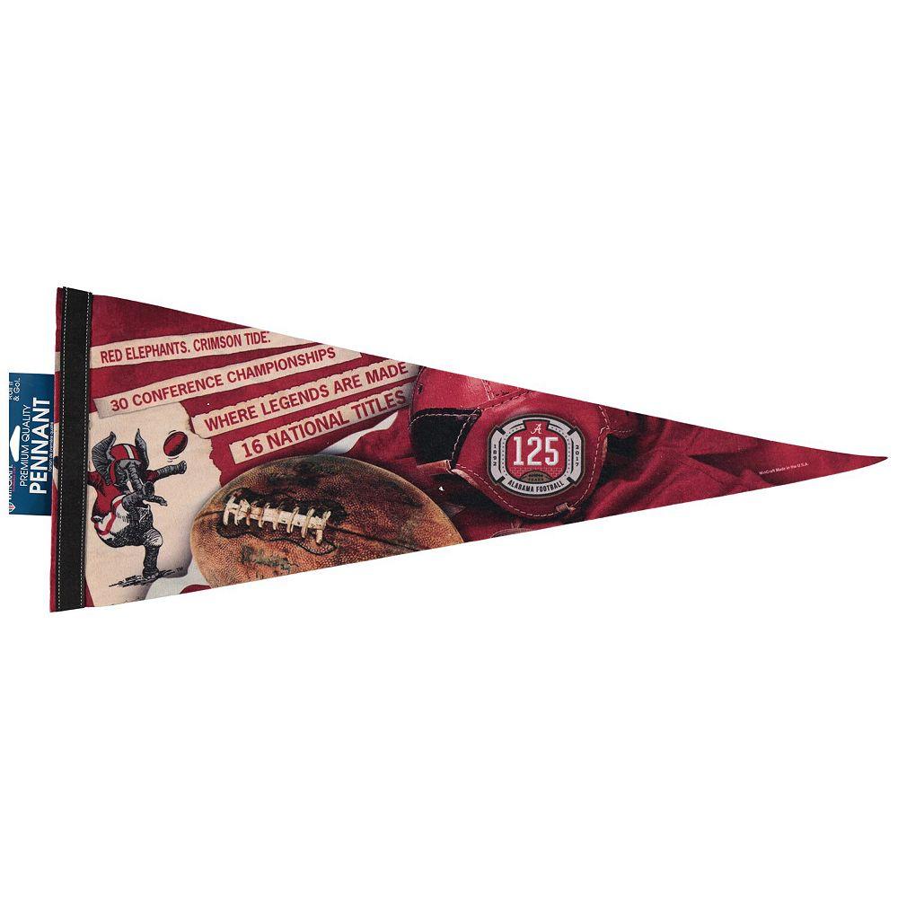 "WinCraft Alabama Crimson Tide 12"" x 30"" 125 Years of Football Premium Pennant"