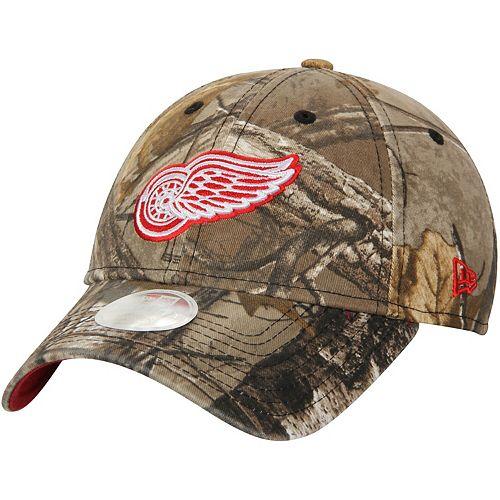 Women's New Era Realtree Camo Detroit Red Wings Preferred Pick 9TWENTY Adjustable Hat