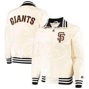 Men's Starter Cream San Francisco Giants The Captain II Full-Zip Jacket