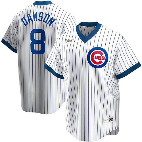 Men's Nike Andre Dawson White Chicago Cubs Home Cooperstown Collection Player Jersey