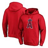 Men's Fanatics Branded Red Los Angeles Angels Official Logo Pullover Hoodie