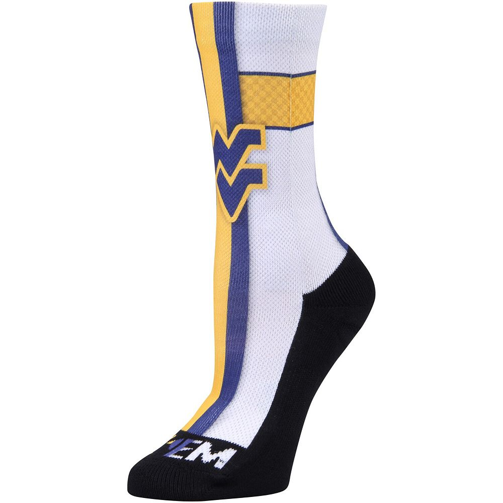 Women's Rock Em Socks West Virginia Mountaineers Jersey Crew Socks