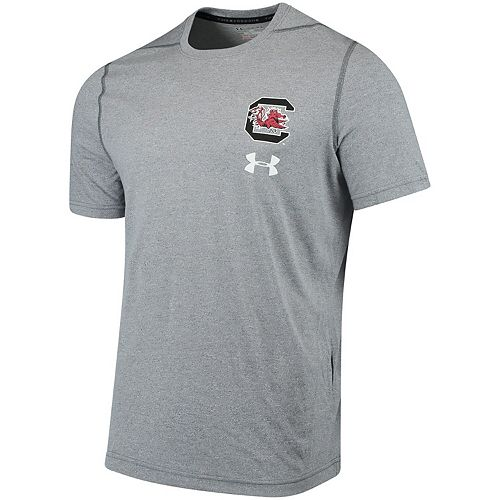 Men's Under Armour Gray South Carolina Gamecocks Threadborne Left Chest Logo Performance T-Shirt