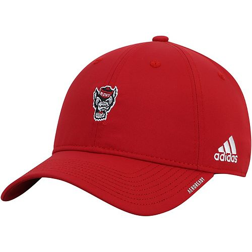 Men's adidas Red NC State Wolfpack Primary Logo AEROREADY Adjustable Hat