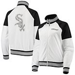 Women's G-III 4Her by Carl Banks White/Black Chicago White Sox First Hit Full-Zip Track Jacket