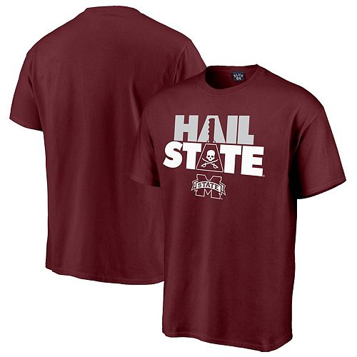 Men's Blue 84 Mike Leach Maroon Mississippi State Bulldogs Hail State T-Shirt