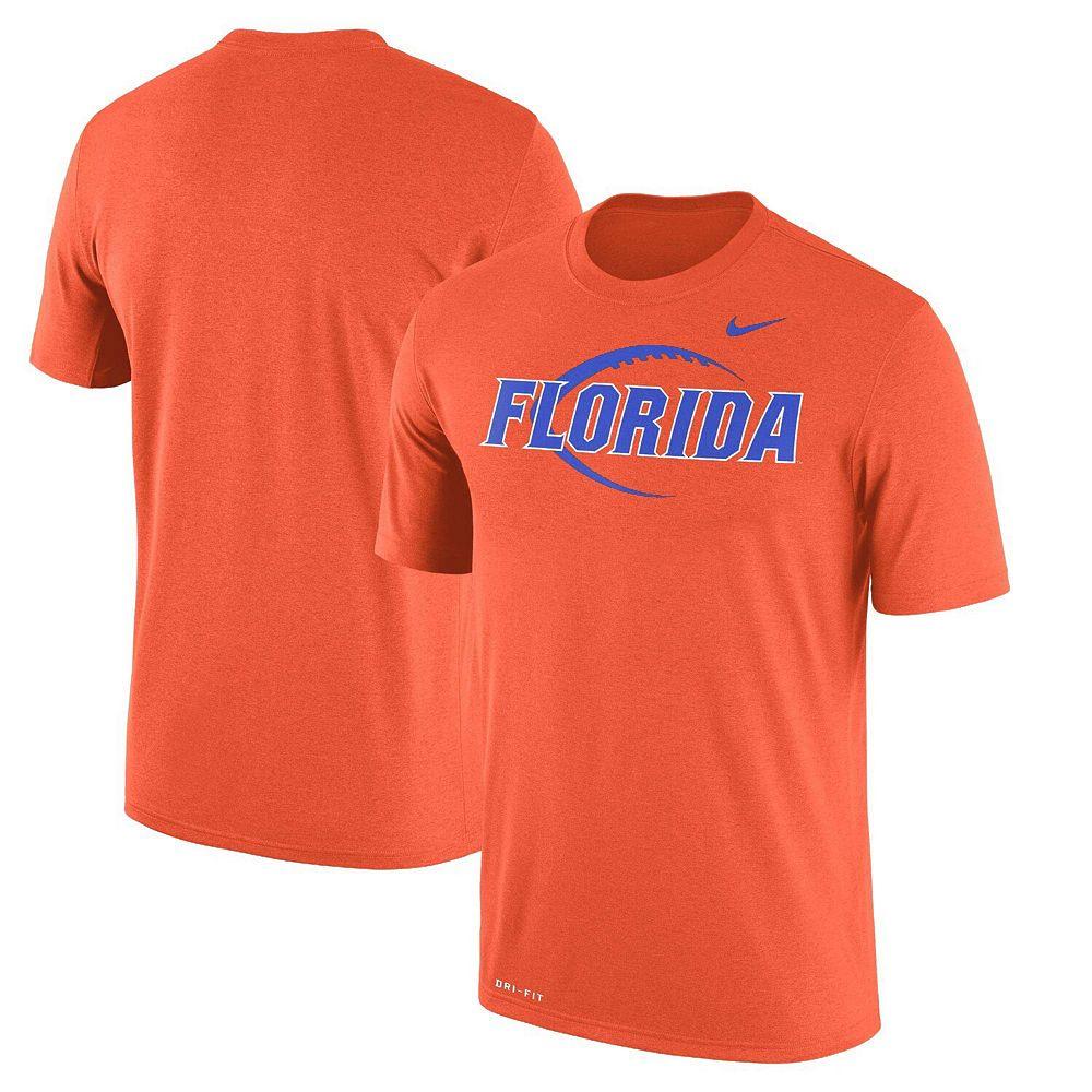 Men's Nike Orange Florida Gators Football Icon Legend Performance T-Shirt