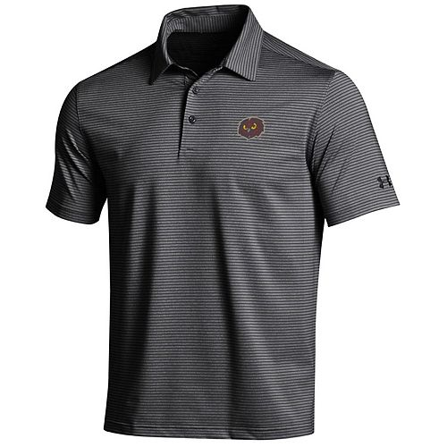 Men's Under Armour Black/Gray Temple Owls Kirkby Performance Polo