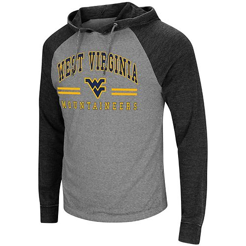 Men's Colosseum Heathered Gray West Virginia Mountaineers Big & Tall Personal Flair Long Sleeve Hoodie T-Shirt