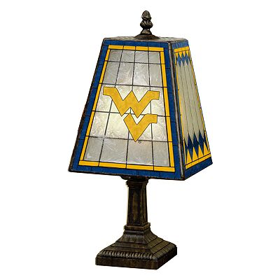 West Virginia University Mountaineers Art Glass Table Lamp
