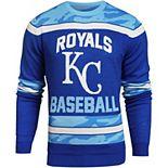 Men's Royal Kansas City Royals Camouflage Team Sweater
