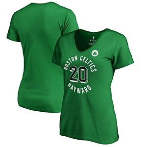 Women's Fanatics Branded Gordon Hayward Kelly Green Boston Celtics Notable Name & Number V-Neck T-Shirt
