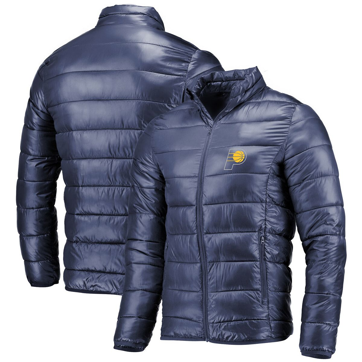 Men's Fanatics Branded Navy Indiana Pacers Polyester Filled Puffer Jacket vNPMc