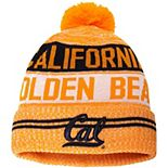 Men's Under Armour Gold Cal Bears Pom Cuffed Knit Hat