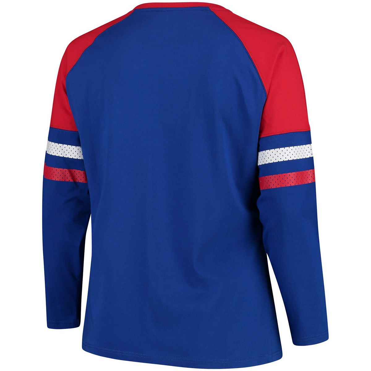 Women's Fanatics Branded Royal Philadelphia 76ers Plus Sizes Iconic Long Sleeve T-Shirt ADbuM