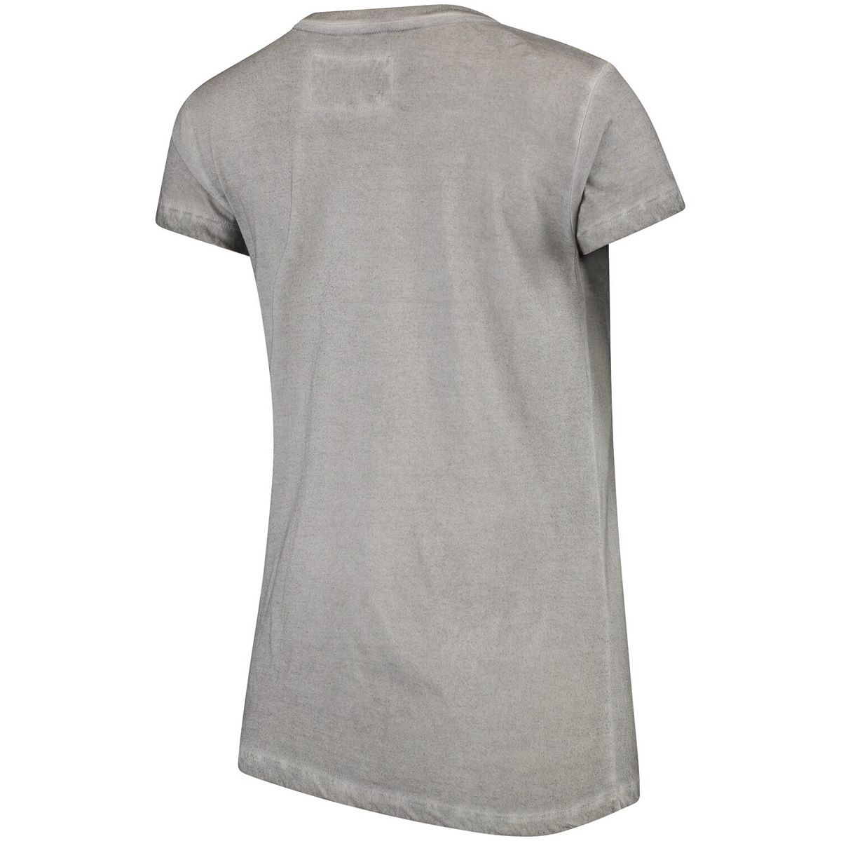 Women's Heathered Gray Florida State Seminoles Softy Vintage Overdyed Crewneck Short Sleeve T-Shirt OSf8i