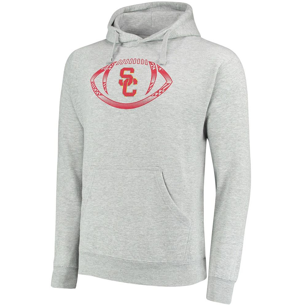 Men's Gray USC Trojans Football Icon Pullover Hoodie