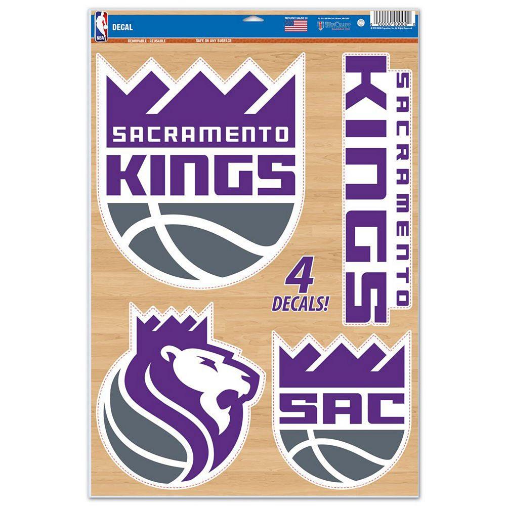 "WinCraft Sacramento Kings 11"" x 17"" Multi-Use Decal Sheet"