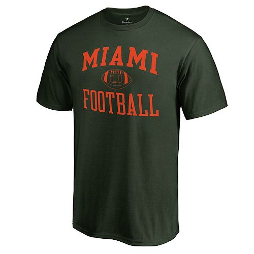 Men's Fanatics Branded Green Miami Hurricanes First Sprint T-Shirt