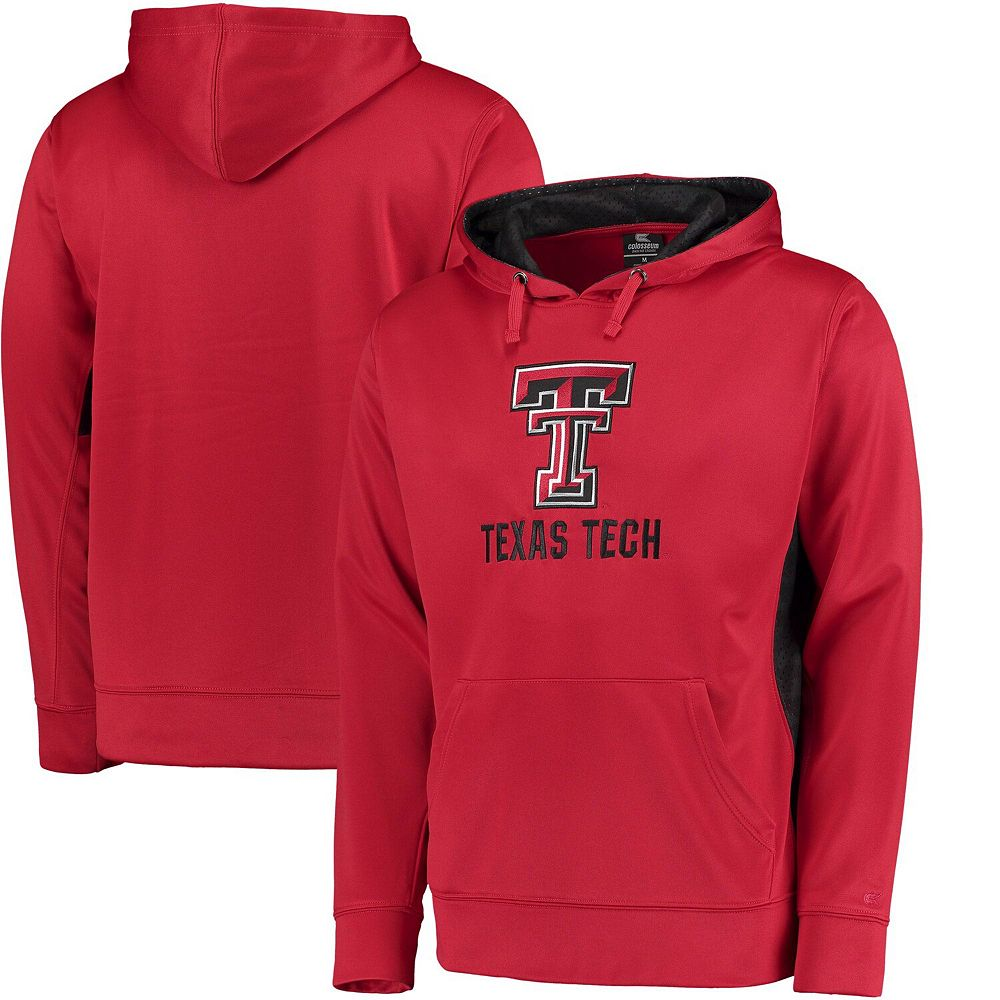 Men's Colosseum Red Texas Tech Red Raiders Oil Slick Pullover Hoodie