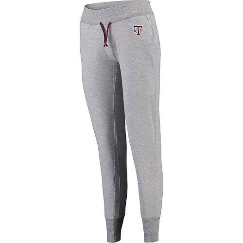 Women's Colosseum Gray Texas A&M Aggies Chalk French Terry Jogger Pants