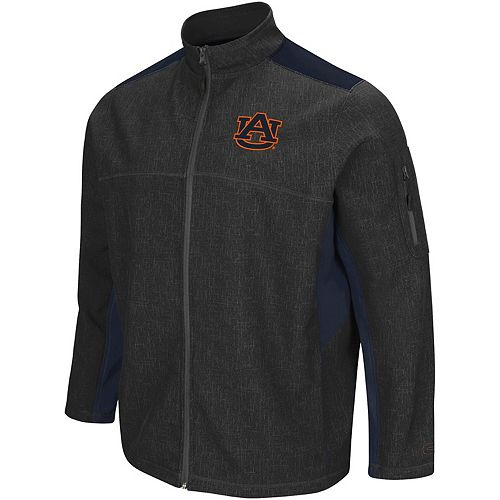 Men's Colosseum Charcoal/Navy Auburn Tigers Big & Tall Acceptor Full-Zip Jacket