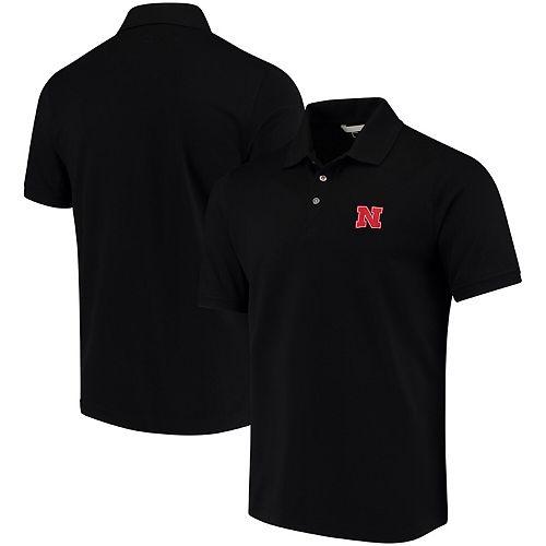 Men's Cutter & Buck Black Nebraska Cornhuskers Collegiate Advantage DryTec Polo