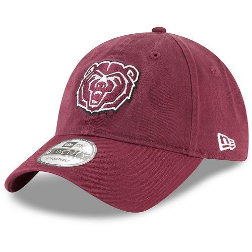 Men's New Era Maroon Missouri State University Bears Core 9TWENTY Adjustable Hat