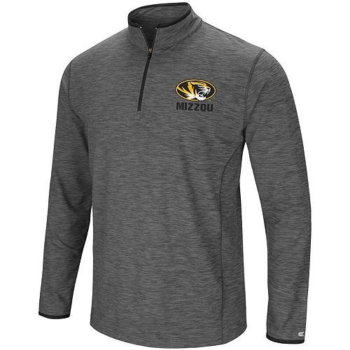 Men's Colosseum Heathered Gray Missouri Tigers Big & Tall Diemert Quarter-Zip Windshirt Jacket