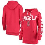 Women's G-III 4Her by Carl Banks Red Los Angeles Angels Extra Inning Colorblock Pullover Hoodie