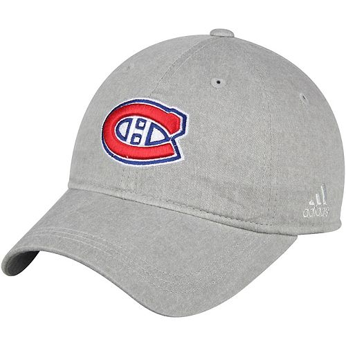 Women's adidas Gray Montreal Canadiens Heather Slouch Adjustable Hat