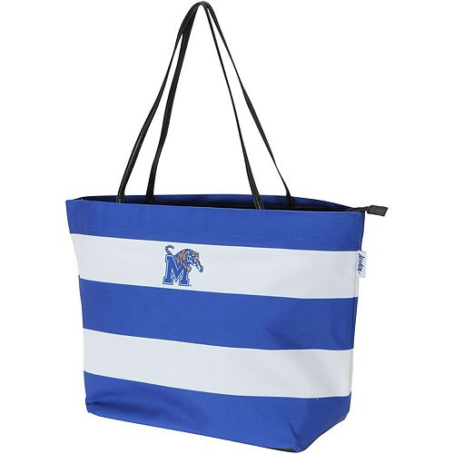 Memphis Tigers Game Day Rugby Striped Tote Bag