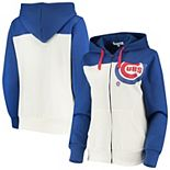 Women's Touch Oatmeal/Royal Chicago Cubs Conference Full-Zip Hoodie