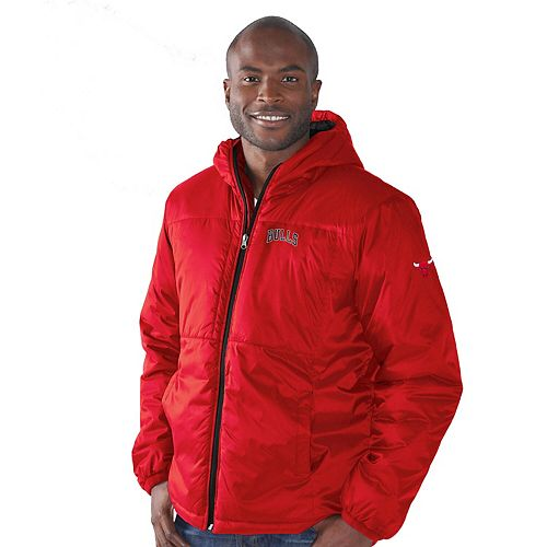 Men's G-III Sports by Carl Banks Red Chicago Bulls Top of the Key Hooded Full-Zip Jacket
