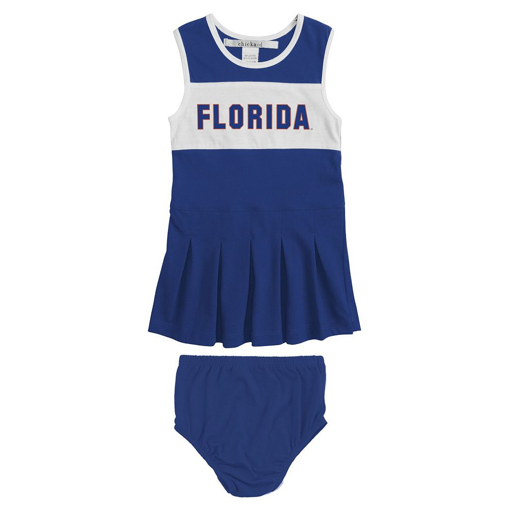 Newborn & Infant Girls chicka-d Royal Florida Gators Comfy Cheerleader Dress & Bloomer Set