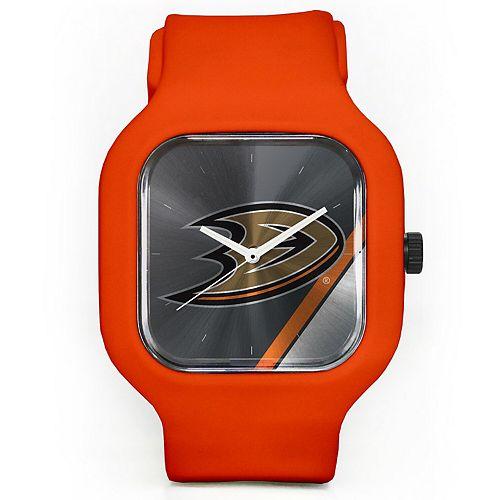 Unisex Modify Watches Orange Anaheim Ducks Silicone Watch