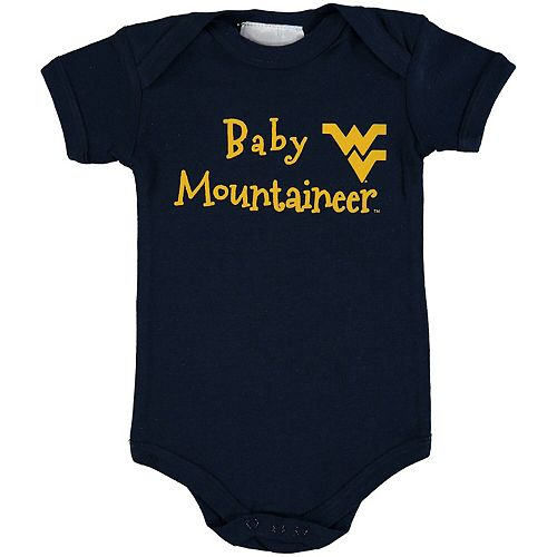 Newborn & Infant Navy West Virginia Mountaineers Baby Mascot Bodysuit