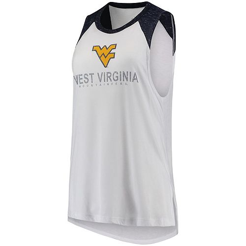 Women's Blue 84 White/Navy West Virginia Mountaineers Confetti Muscle Tank Top