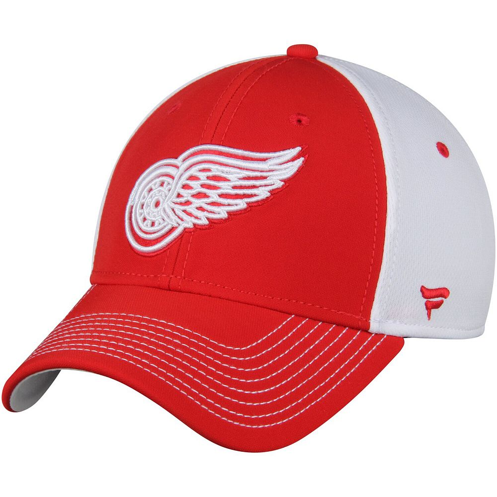 Men's Fanatics Branded Red/White Detroit Red Wings Iconic Bold Speed Stretch Fit Flex Hat