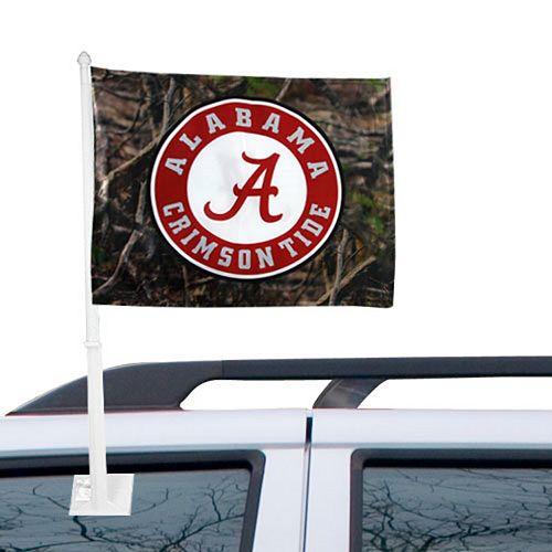 Alabama Crimson Tide Camo Logo Two-Sided Fashion Car Flag