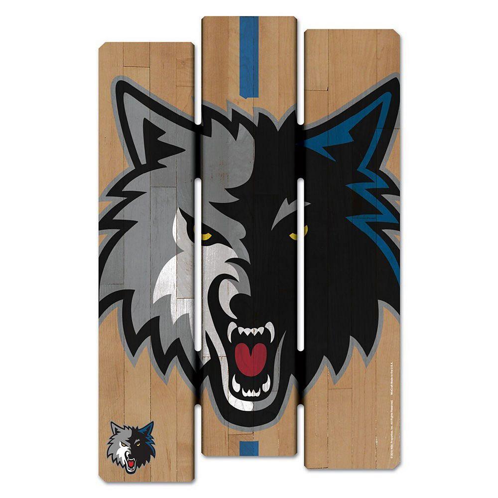 "WinCraft Minnesota Timberwolves 11"" x 17"" Fence Wood Sign"