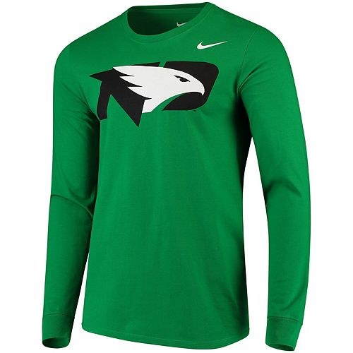 Men's Nike Green North Dakota Big Logo Performance Long Sleeve T-Shirt
